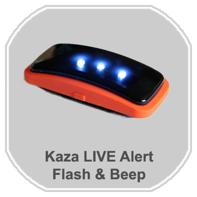kaza Live Alert Flash & Beep